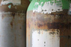 Corrosion bouteille de plongée